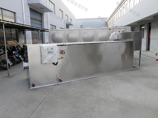 餐厅厨房地埋式自动化三级油水分离器图纸