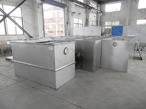 餐厅厨房埋地式智能型隔油除渣器处理效果