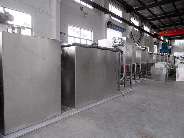 学校地面式自动除渣一体化隔油处理设备的设置