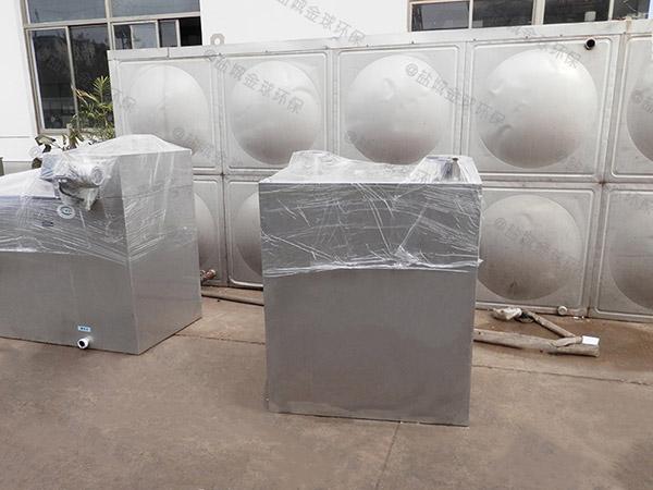工地食堂地上式全自动智能型三级安图安图油水分离器工艺流程