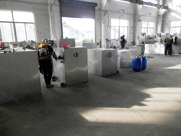 餐厅厨房地上自动除渣油水分离器隔渣池厂家价格