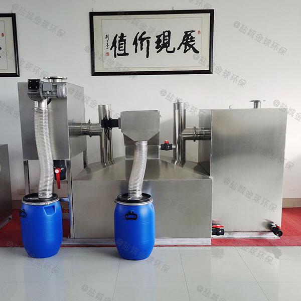 厨用埋地式无动力油水分离处理机器最小尺寸